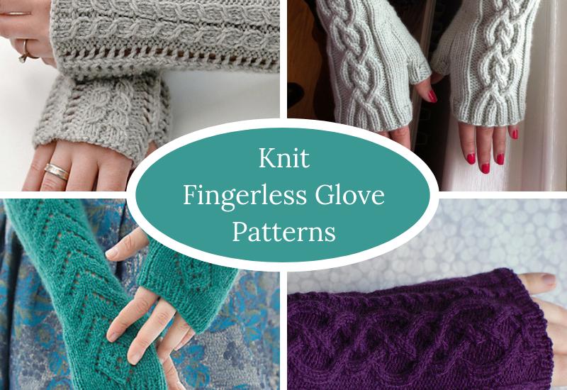 Knit Fingerless Glove Patterns Squigglidinks
